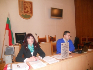 "Application of principles of good governance in the management of municipality property"" of experts from municipality Troyan and city council was held on January 31. 2013. at Troyan"